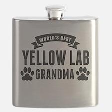 Worlds Best Yellow Lab Grandma Flask