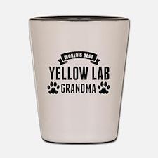 Worlds Best Yellow Lab Grandma Shot Glass