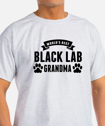 Worlds Best Black Lab Grandma T-Shirt