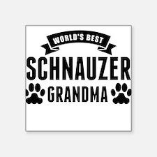 Worlds Best Schnauzer Grandma Sticker