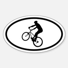Mountain Biker Oval Decal