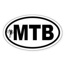 Mountain Biking Oval Decal