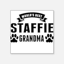 Worlds Best Staffie Grandma Sticker
