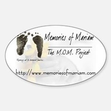 The Memories of Mariam Project Oval Stickers