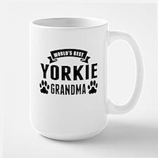 Worlds Best Yorkie Grandma Mugs