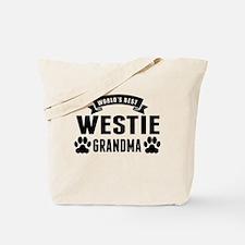 Worlds Best Westie Grandma Tote Bag