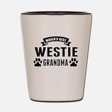Worlds Best Westie Grandma Shot Glass