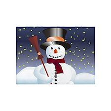 Snowman for Xmas 5'x7'Area Rug