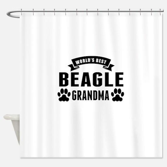 Worlds Best Beagle Grandma Shower Curtain