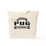 Pug grandma Canvas Bags