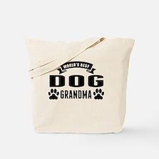 Worlds Best Dog Grandma Tote Bag
