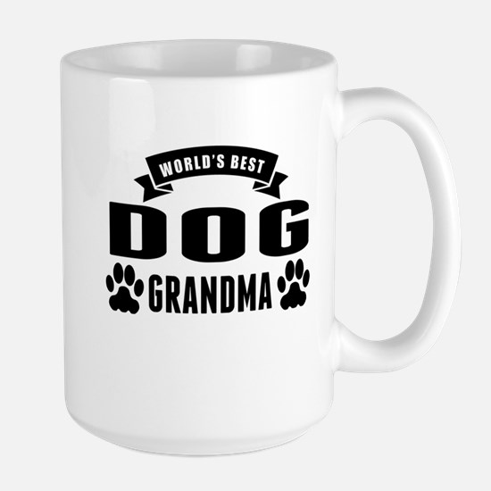 Worlds Best Dog Grandma Mugs