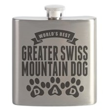 Worlds Best Greater Swiss Mountain Dog Dad Flask