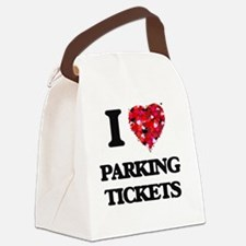 I Love Parking Tickets Canvas Lunch Bag