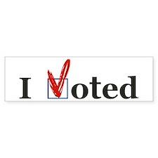 I VOTED Bumper sticker