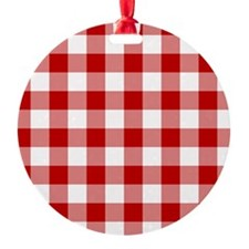 Red Gingham Pattern Ornament