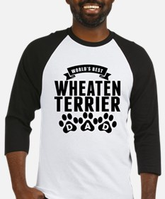 Worlds Best Wheaten Terrier Dad Baseball Jersey