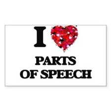 I Love Parts Of Speech Decal