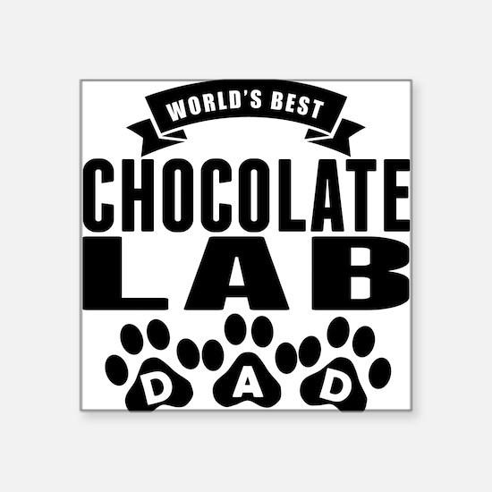 Worlds Best Chocolate Lab Dad Sticker