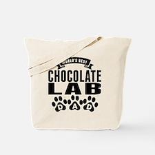 Worlds Best Chocolate Lab Dad Tote Bag