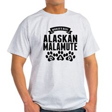 Worlds Best Alaskan Malamute Dad T-Shirt