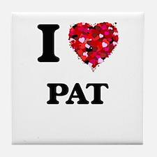 I Love Pat Tile Coaster