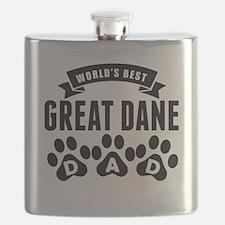 Worlds Best Great Dane Dad Flask