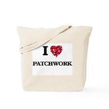 I Love Patchwork Tote Bag