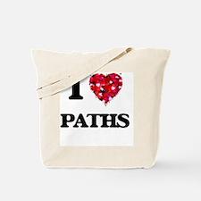 I Love Paths Tote Bag
