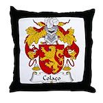 Colaco Family Crest Throw Pillow
