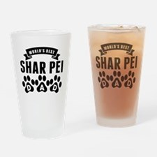 Worlds Best Shar Pei Dad Drinking Glass