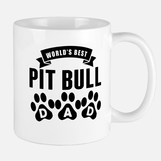 Worlds Best Pit Bull Dad Mugs