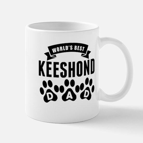 Worlds Best Keeshond Dad Mugs