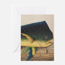 Mahi-Mahi Fish artwork Greeting Cards