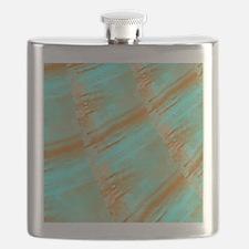 Copper and Aqua Curves Flask