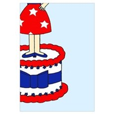 Happy 4th July Birthday Poster
