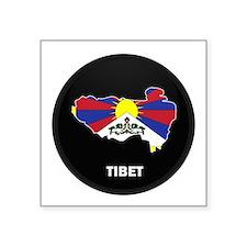 """Cute Dalai lama Square Sticker 3"""" x 3"""""""