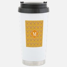Yellow Monogrammed Base Travel Mug