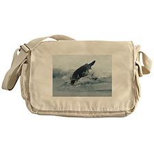 Diving Emperor Penguin Messenger Bag
