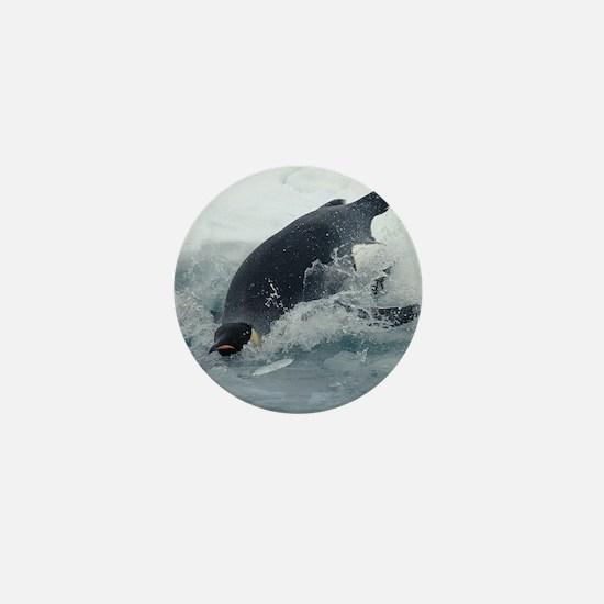 Diving Emperor Penguin Mini Button