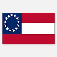 CSA First National Flag Sticker (Rectangle)