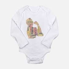 Unique Independent Long Sleeve Infant Bodysuit