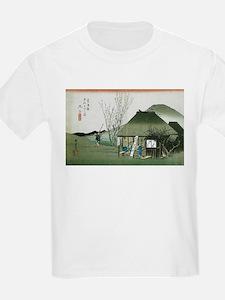 Famous Teahouse at Mariko by Hiroshige T-Shirt