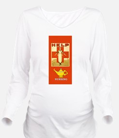 Red Cross Nurse and Long Sleeve Maternity T-Shirt
