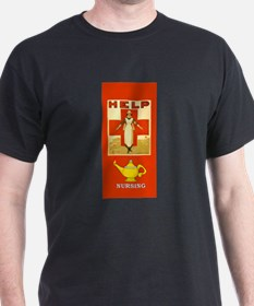 Red Cross Nurse and Lamp T-Shirt