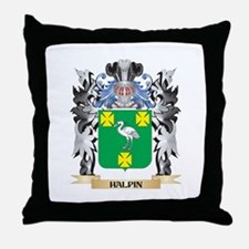 Halpin Coat of Arms - Family Crest Throw Pillow