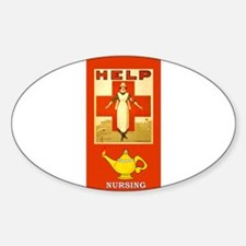 Red Cross Nurse and Lamp Decal
