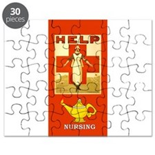 Red Cross Nurse and Lamp Puzzle