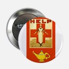 "Red Cross Nurse and Lamp 2.25"" Button"