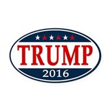 Donald trump Oval Car Magnets
